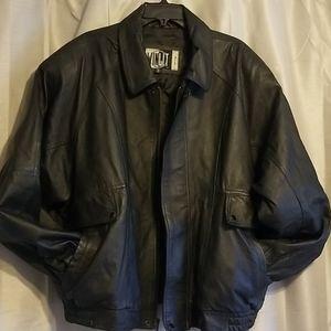 Winlit Black Leather Jacket